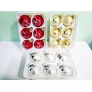 Елочный шарик стеклянный d6см 6шт/наб N02270 (48наб)