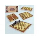 Шахи  45001 3в1, деревяна дошка, деревяні фігури
