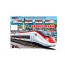 ЖД JHX2014-09 (24шт) локомотив 2шт,вагоны 2шт,24дет,в кор-ке,44,5-33-5см