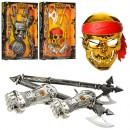 Набор пирата 1682-3-6-7 (12шт) оружие, маска, доспехи,в кор-ке,40-59,5-6,5см