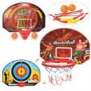Баскетбольное кольцо M 5971-2 (20шт) 3в1(дартс+лук),диам.30см,щит 51-35см,в слюде,55-48-8