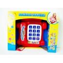 JT Телефон 9093 AR (36шт) Веселые звонки, обучающий, муз, свет, на бат-ке, в кор-ке, 33-27-8,5см