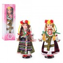 Кукла D 13650 (30шт) фарфор, на подставке, украиночка, 37см, в кор-ке