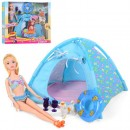 Кукла BLD145 (18шт) 30см, палатка 24см, собачка, аксессуары, круг