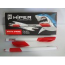 Ручка гель HG-811 Hiper White Shark 0,6 мм червона (10шт)