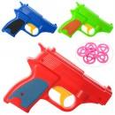 Пистолет 680-1 (360шт) диски 6шт, 3цвета, в кульке
