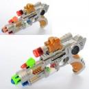 Пістолет M930 (60шт) 27см,лазер,звук,світ,пенопл.шарики, на бат-ці,в кульку