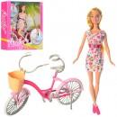 Кукла 99043 (24шт) 29см, велосипед 27см, 2вида, в кор-ке