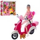 Кукла 5533 (18шт) шарнир,29см,мотоцикл29см(муз,св),собачка,аксессуары,2в,бат(таб),в кор36-32,5-9,5см