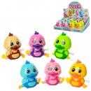 Заводная игрушка 6632 (216шт) цыпленок, 8см, 12шт(6цветов)