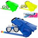 Н-р для плавания 65053 (72шт) маска15см, трубка35см, ласты30см