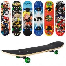 Скейт MS 0322-3 (6шт) 78-19,5см,пласт.подвеска,макс.нагр.45кг