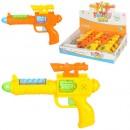 Пистолет 881 (120шт) 15,5см, звук, свет, на бат-ке(табл), 12шт в дисплее