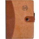 Блокнот 6736 клітка кож.зам.з ручкою 18*13см