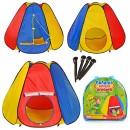 Палатка M 0506 (18шт) пирамида, 6 граней, в сумке, 144-244-104см