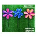 Вітрячок V2106 (300шт) Квітка 3 кольори 27 см