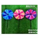 Вітрячок V2107 (300шт) Квітка 3 кольори 28 см