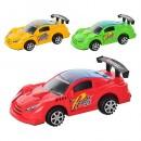 Машинка 3108 (288шт) заводная, свет, 3 цвета,в кульке, 18,5-7,5-6см