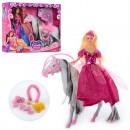 Кукла 505 (24шт) 30см, лошадь (звук) 29-26-6см, аксессуары, 2 вида, в кор-ке