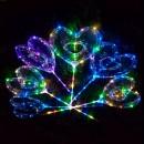 Шарики надувные MK 2075-3 (100шт) BOBO, сердце,свет,гирлянда 3м,на палке70см,на бат-ке