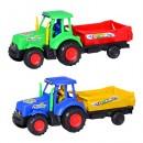 Заводная игрушка 099 (216шт) трактор, с прицепом, в кульке, 24-8-9см