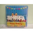 Свічка буква з Днем народження (біла блиск)