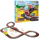 ЖД 8780 (12шт) TH, локомотив (звук,свет), вагоны 2шт, мост, на бат-ке, в кор-ке, 53-43-6,65см