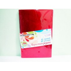 5550 Н-р цв,А 4 пористой резины - металлик, толщина - 2 мм, 5 листов, 5 цветов,(60/30)