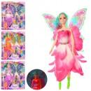 Кукла 860B (24шт) фея, 30см, свет, 2вида, микс цветов, на бат(таб)
