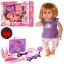 Кукла KT4300FG (12шт) набор доктора, 37см,зв,св,реагир.на аксес,подвижн,2вид,на бат