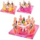 Столовая 501 (48шт) стол,6 стульев,куклы