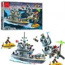 Конструктор BRICK 819 (20шт) форт на острове,военный катер,505дет,в кор-ке