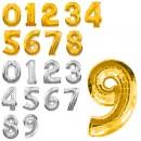 Шарики фольгированные 45см MK 1346 (1000шт) 16дюймов,цифры(0-9),2цвета