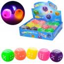 Мяч детский MS 1153-2 (288шт) 2,5см, кубик, свет, на бат, 12шт