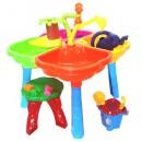 01-121-1 Песочный столик с набором, стульчиком (2шт)