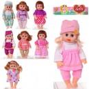 Кукла K111-1-2-3-4-6 (36шт) звук,бат-таб,в кульке,23,5-44-8см
