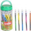 Ручка Cello 668 синя масл.(50/3000)