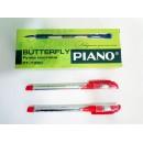 Ручка кульк. Piano PТ-195-C червона (12/144шт)