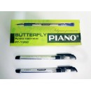 Ручка кульк. Piano PТ-195-C чорна (12/144шт)