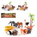 Животные QT024-25-26 (96шт) дикие, 12шт, 3 вида, в кульке