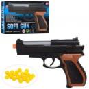 Пистолет 1683B (288шт) на пульках, 14см, пульки, в кор-ке