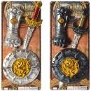 Набор рыцаря 3012-3013 (60шт) меч 53см, щит 22см, 2 цвета, на листе, 24,5-57-4,5см
