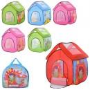 Палатка M 3756 (12шт) домик,112-102-114см,1вх-сетка/застеж-молния,окно-сетка