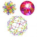 Мяч M 5391 (144шт) трансформер, свет, в кульке