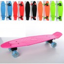 Скейт MS 0847-1 (6шт) пенни, 56,5-15см,пластик подвеска