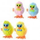 Заводная игрушка 16831A (252шт) цыпленок 8см, 4 цвета, в кульке