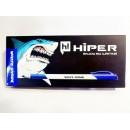 Ручка гелева Hiper White Shark HG-811 0,6 мм синя (10шт)