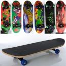 Скейт MS 0354-3 (6шт) 70,5-20см,пласт.подвеска,колесаПВХ,7слоев,6видов