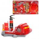 Набор пожарника 9905 A (24шт) каска, огнетушитель, топор, рация, лом, компас, на листе, 63-34-10см