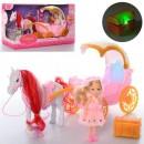 Карета 686-792 (24шт) лошадь,кукла,сундук-муз,свет,в кор-ке,41-22,5-14см